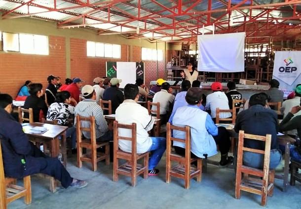 El TED Potosí comienza la capacitación a juradas y jurados para la elección en Cotagaita