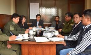 El TED Cochabamba y la Policía Nacional coordinan el plan de seguridad para el Referendo Autonómico en Mizque