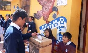 Potosí: cerca de 1.700 estudiantes  de Ckochas eligieron a sus gobiernos estudiantiles