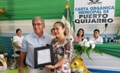 Puerto Quijarro entrega reconocimiento al TED Santa Cruz por su eficiencia en la administración del Referendo Autonómico 2018