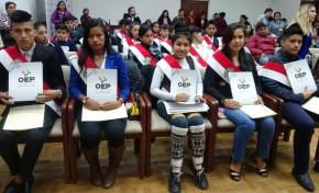 El TED Tarija acreditó a 42 autoridades municipales y departamentales infantiles