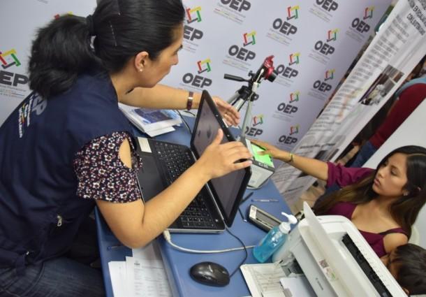 Cochabamba: el OEP ofrece el servicio de empadronamiento permanente en la Feicobol