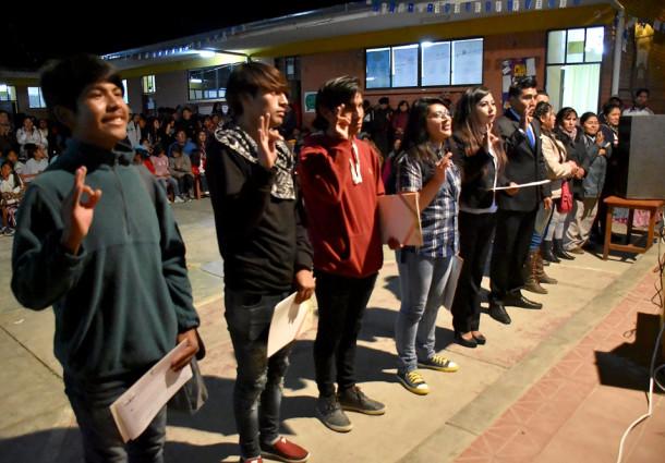 """La Paz: el colegio Chasquipampa """"B"""" eligió a su gobierno estudiantil por normas y procedimientos propios"""