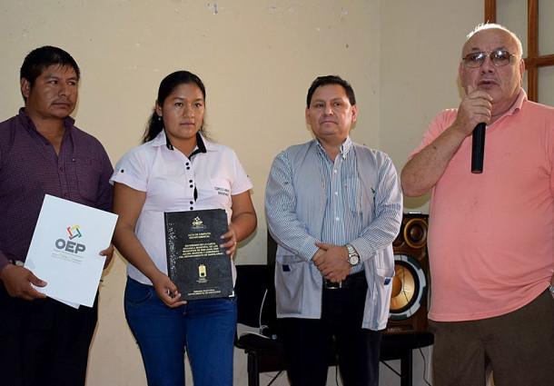 El TED Santa Cruz entregó los resultados oficiales del Referendo Autonómico a las autoridades de Mairana y San Juan