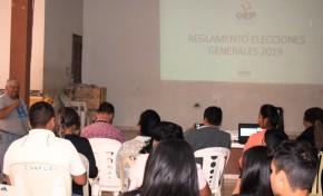 El TED Santa Cruz socializa normativa electoral a periodistas de Montero