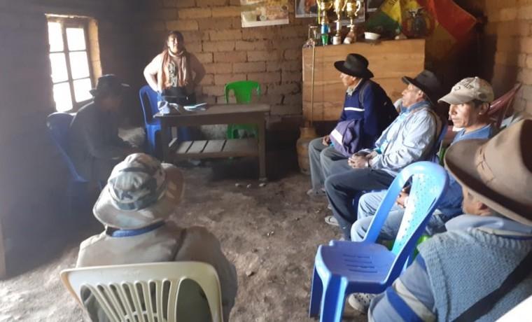 1. socialización en cocapata
