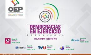El TED Cochabamba difunde el programa Democracias en Ejercicio para informar sobre las Elecciones Generales