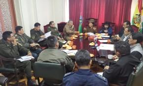 El TED La Paz coordina la seguridad para las Elecciones Generales con la Policía Nacional y las Fuerzas Armadas