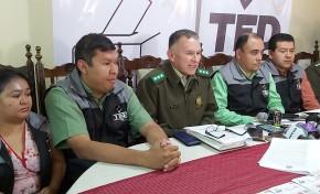 En Tarija, 1.995 efectivos policiales resguardarán la seguridad durante las Elecciones Generales
