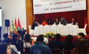 El TED La Paz pide mantener la calma a la población para continuar con el cómputo oficial
