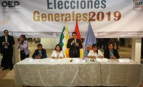 El TED Cochabamba inicia la jornada electoral en el recinto del Campo Ferial