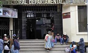 El TED Oruro y el Serecí atienden con normalidad a la ciudadanía pese a los conflictos