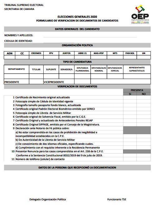 formulario verificación