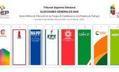 De esta manera estarán ubicados los partidos políticos en la papeleta de sufragio