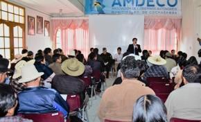 48 autoridades municipales de Cochabamba expresan su confianza y dan garantías a los vocales del TED