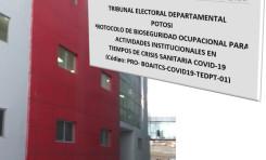 La Sala Plena del TED Potosí aprobó el Protocolo de Bioseguridad Ocupacional en actividades institucionales