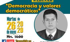 """El TED Chuquisaca realiza el seminario virtual """"Democracia y valores democráticos"""""""