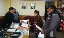 El TED Oruro entregó credenciales a dos autoridades del Órgano Legislativo Uru Chipaya