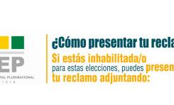 Serecí y TED Cochabamba atienden reclamos de ciudadanos inhabilitados en el Padrón Electoral