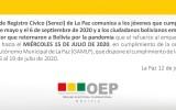 Cuatro centros de empadronamiento en La Paz atenderán hasta el 15 de julio