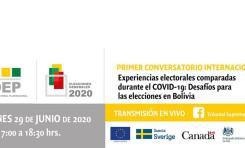 """Es posible armonizar los derechos a la salud y al sufragio, coinciden en el  conversatorio """"Experiencias electorales comparadas durante el COVID-19"""""""