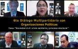 El Sexto Diálogo Multipartidario se enfoca en la sociedad civil, la crisis sanitaria y el proceso electoral