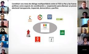 El TED La Paz y el PNUD llevan a cabo la primera reunión virtual con organizaciones políticas