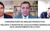 Identifican riesgos para las elecciones y acciones de mitigación en un conversatorio convocado por el TED La Paz