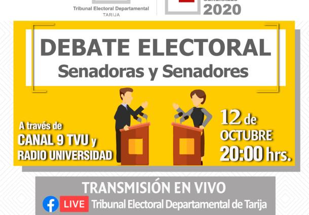 El TED Tarija realiza el tercer debate electoral con candidatas y candidatos a senadurías