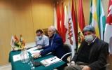 El TSE informa a diplomáticos, delegados políticos y periodistas el protocolo de bioseguridad para la votación en Madrid