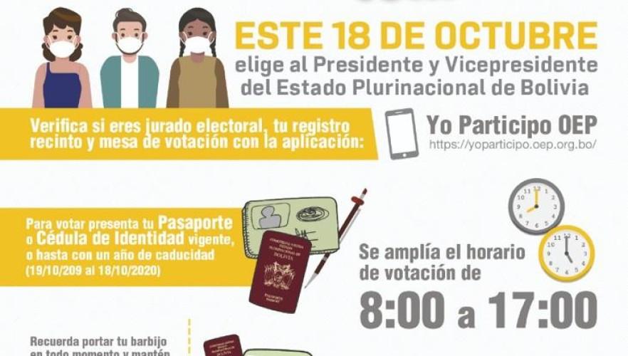 Residentes bolivianos en Buenos Aires votarán en 78 recintos electorales