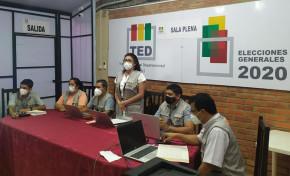 El TED Beni concluye el cómputo oficial departamental