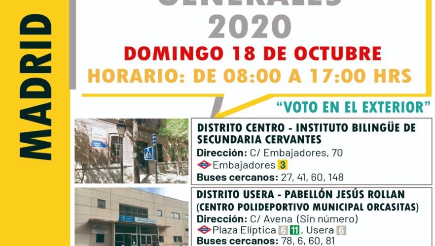 Habilitan tres recintos electorales para la jornada de votación en Madrid