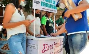 Equipo de movilizadores del TED Santa Cruz masifica la difusión informativa del proceso electoral
