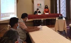 El TED Chuquisaca identifica logros y falencias en un taller de evaluación de las Elecciones Generales 2020