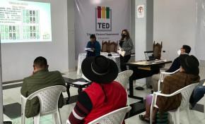 Chuquisaca: TED capacita a delegados de organizaciones políticas en normativa y procedimientos electorales