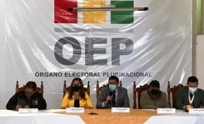 Elecciones Subnacionales 2021: TED Chuquisaca sortea franjas para 30 diseños de papeleta