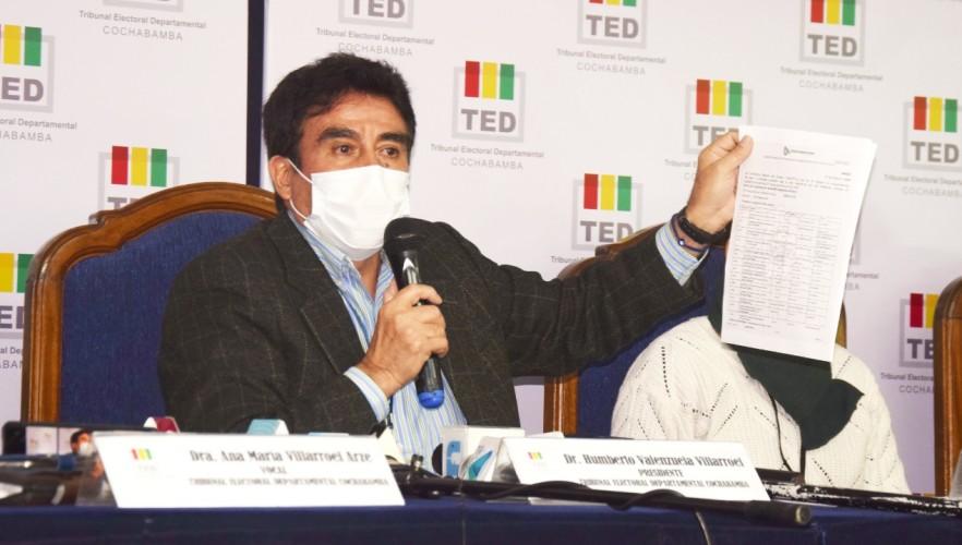 El TED Cochabamba designará a 1.200 notarias/os electorales el 31 de enero