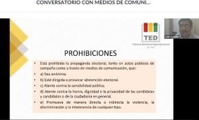 TED La Paz da a conocer el Régimen de propaganda electoral pagada - faltas y sanciones en conversatorio con periodistas