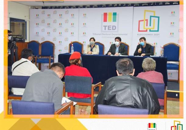 El TED organiza debates entre candidaturas a la Gobernación y a la Alcaldía de Cochabamba