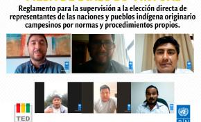 TED Tarija socializa Reglamento para supervisión a la elección de representantes de las naciones y pueblos indígena originario por normas y procedimientos propios