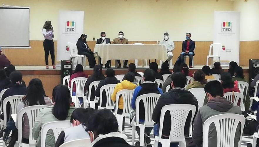 El TED de Chuquisaca designa 575 notarias y notarios electorales