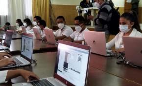 Realizan un simulacro del conteo de votos en el Centro de Cómputo de Chuquisaca