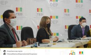 Chuquisaca: 107 jurados electorales se excusan a 24 horas de la culminación del plazo