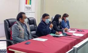 El presidente del TED Potosí presenta los resultados oficiales del cómputo departamental