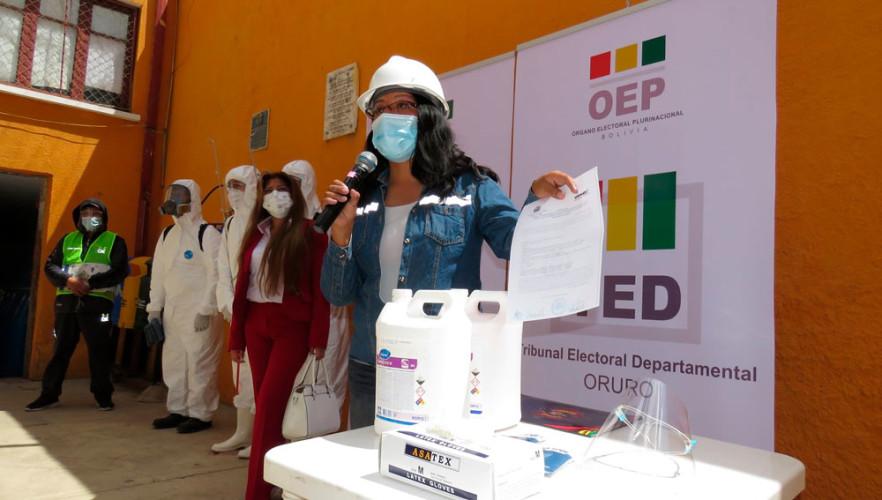 El TED Oruro dispone la fumigación de los recintos electorales
