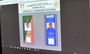 El TED Pando sortea la ubicación de los candidatos a la Gobernación en la papeleta para la segunda vuelta