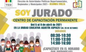 El TED La Paz habilita el centro de capacitación permanente para jurados rezagados