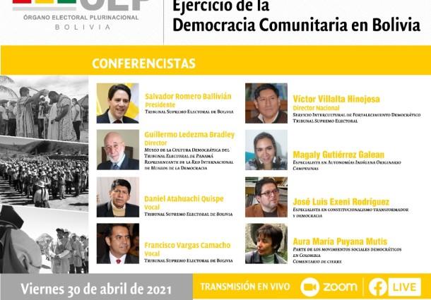 El 30 de abril exponen los avances y aportes de la democracia comunitaria boliviana en una conferencia internacional