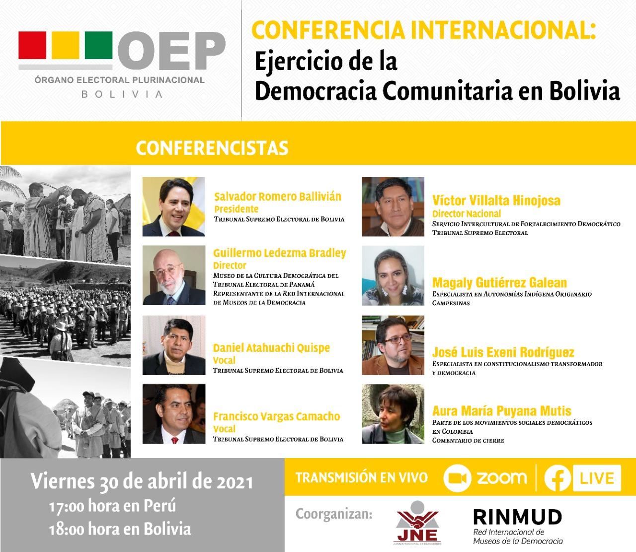 conferencia democracia comunitaria